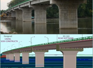 Pecica-Bridge over Mures River