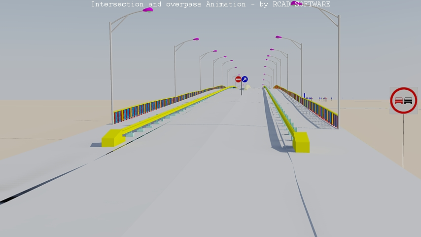 Intersection and overpass
