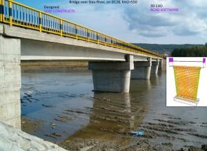Bridge over Sieu River, on DC28, Km2+550