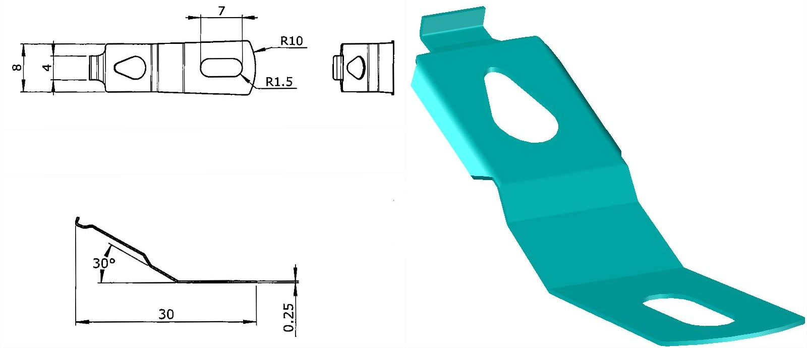 Locking mechanism, 3D modelling