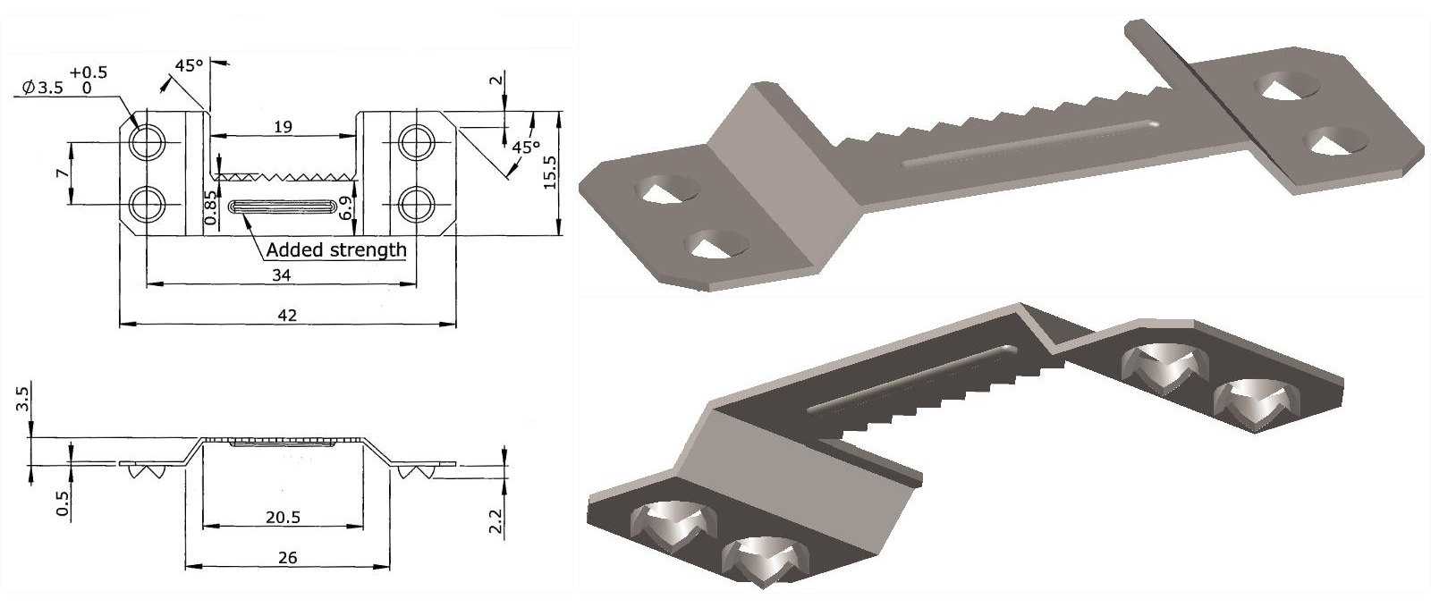 Suspension fitting, 3D modelling