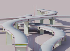 Complex road junction