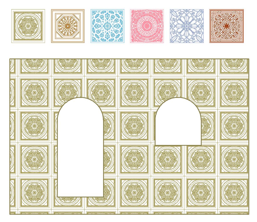 Arabic Hatch patterns for AutoCAD